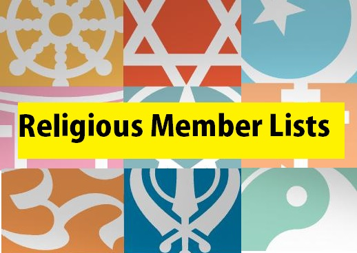 religious members marketing lists